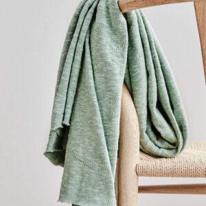 Organic Slub Jacquard Knit Sage Green Mind the Maker