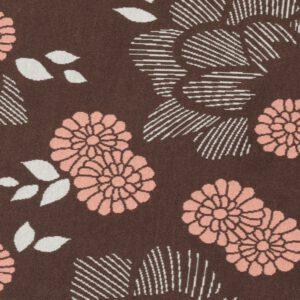 Sakura Yukata Jacquard Knit Jersey Bruin/Zalm Roze Albstoffe