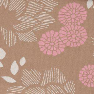 Sakura Yukata Jacquard Knit Jersey Bruin/Roze Albstoffe