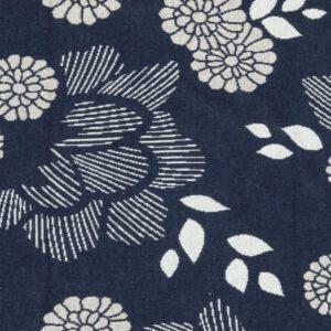 Sakura Yukata Jacquard Knit Jersey Blue Albstoffe